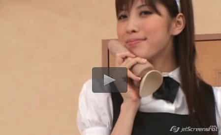 Riko Tachibana ดาวโป๊สาวญี่ปุ่นหุ่นนางแบบโดนจ้างมาให้เด็กหนุ่มลูกคนรวยเย็ดหีในชุดคนใช้