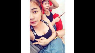 สองเพื่อนสาวไทยวัยกำลังดีไฟแรงสุดนัดผัวไปเย็ดกันสดๆที่ห้องพักผลัดกันดูดควยเลียหีกันอย่างสนุก