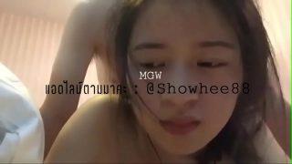 หลุดนักศึกษาสาวไทยน่ารักมากๆตั้งกล้องถ่ายคลิปแก้ผ้าโก้งตูดให้แฟนหนุ่เย็ดหีท่าหมา